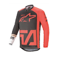 Alpinestars Racer Comapss Jersey Anthracite/Red/Fluo White (A37621211382X)