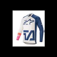Alpinestars Racer Compass Jersey Off White/Navy/Pink Fluo (A37621212749X)
