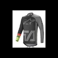 Alpinestars Racer Comapss Jersey Black/Dark Grey/Fluo Green (A37621211116X)