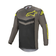 Alpinestars Fluid Speed Jersey Dark Grey/Fluo Yellow (A37626219350X)