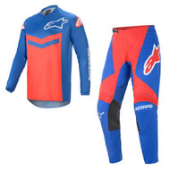 Alpinestars 2021 Fluid Speed Blue Bright Red Adult Combo (A37626217103X/A37226217103XX)