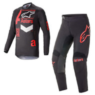 Alpinestars 2021 Fluid Chaser Black Bright Red Adult Motocross Gear Combo