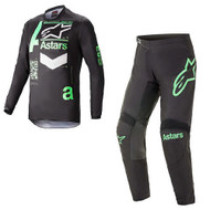 Alpinestars 2021 Fluid Chaser Jersey Pants Black Mint Adult MX Gear Combo