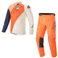 Alpinestars 2021 Youth Racer Blaze Orange Dark Blue Kids Jersey Pants Combo