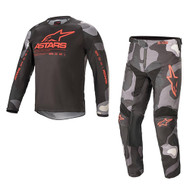 Alpinestars 2021 Youth Racer Tactical Camo/Red Fluo Kids Combo (A37712219133X-A37412219133XX)