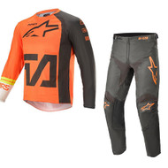 Alpinestars 2021 Youth Racer Compass Orange/Anthracite Kids Combo (A37721214442X-A37421211440XX)