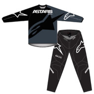 Alpinestars 2021 Youth Racer Braap Black Anthracite White Kids Jersey and Pants Combo - Motocross Gear