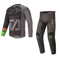 Alpinestars 2021 Youth Racer Compass Black/Grey/Green Kids Combo