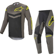 Alpinestars 2021 Fluid Speed Dark Grey/Yellow Fluo Adult Combo (A37626219350X-A37226219350XX)
