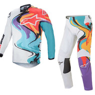 Alpinestars 2021 Racer Flagship White/Multicolour Adult Combo (A3761321252X-A3721321252XX)