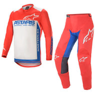 lpinestars 2021 Racer Supermatic Bright Red/Blue/Off-White Adult Combo (A37615213172X-A37215213172XX)