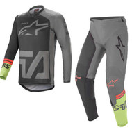 Alpinestars 2021 Racer Compass Black/Dark Grey/Fluo Green Adult Combo (A37621211116X-A37221211116XX)