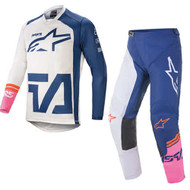 Alpinestars 2021 Racer Compass Off White/Navy/Fluo Pink Adult Combo (A37621212749X-A37221212749XX)