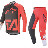 Alpinestars 2021 Racer Compass Anthracite/Red/Fluo White Adult Combo (A37621211382X-A37221211382XX)