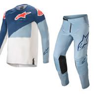Alpinestars 2021 Techstar Factory Dark Blue/Powder Blue/Off White Adult Combo (A37610217172X-A37210217222XX)