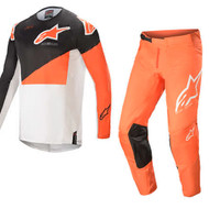 Alpinestars 2021 Techstar Factory Anthracite/Orange/Off White Adult Combo (A37610211448X-A3721021402XX)