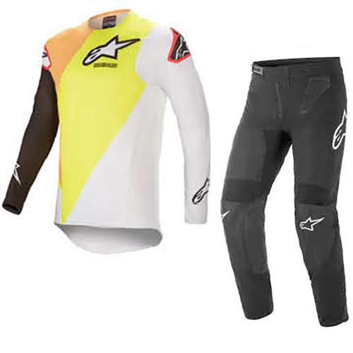 Alpinestars 2021 Supertech Blaze Yellow/White/Black Adult Combo (A3760421552X-A372042110XX)