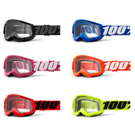 100% Strata 2 Youth Goggles Clear Lens (50521-101-)