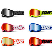 100% Strata 2 Youth Goggles Mirrored Lens (50521-252-)