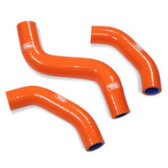 KTM 450 SX-F 2019-2021 3 Piece Orange Samco Sport Silicone Radiator Coolant Hose Kit