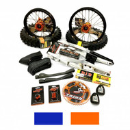 65 Talon Extended Wheel Kit, in Orange or Blue, for KTM 65SX, Husqvarna TC65