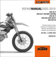 KTM GENUINE REPAIR MANUAL 250 SX-F 2005-2019