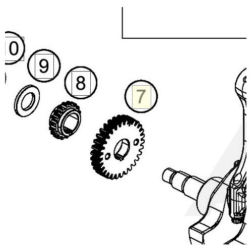 PRIMARY GEAR 30T (90232023030) (90232023030)