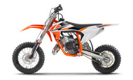KTM 50sx 2021 Full Plastics Kit fitted to KTM 50 SX 2021 (Bike not included)