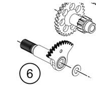 Kickstarter shaft (45233050100) (45233050100)