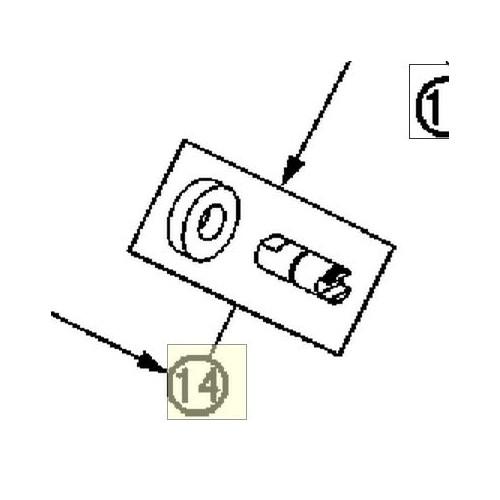 WATER PUMP SHAFT W/ SEAL RING (60035054144) (60035054144)