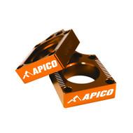 Apico | Rear Axle Blocks | SX/TC/MC 65 | 2016> | Orange