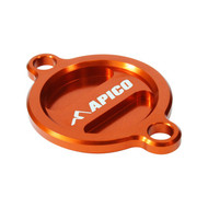 Apico | Oil Filter Cover | SX-F/FC/MC-F 250 13-22 | SX-F/FC/MC-F 350 11-22 | SX-F/FC/MC-F450 16-22 | EXC-F/FE/EC-F (See Description) | Orange
