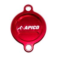 Apico | Oil Filter Cover | SX-F/FC/MC-F 250 13-22 | SX-F/FC/MC-F 350 11-22 | SX-F/FC/MC-F450 16-22 | EXC-F/FE/EC-F (See Description) | Red