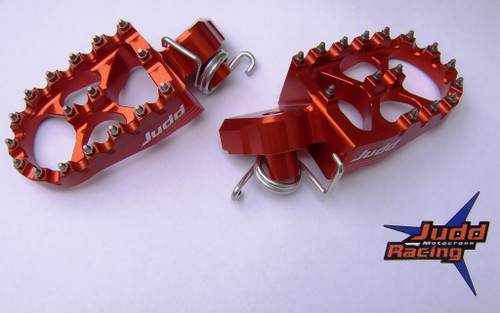 KTM Wide Foot Pegs Orange