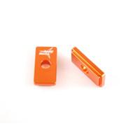 Chain Adjuster Blocks KTM 50, TC 50 Orange