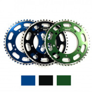 Talon Rear Sprocket for Kawasaki KX 85, available in Blue, Black or Green