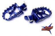 Husqvarna Wide Foot Pegs Blue