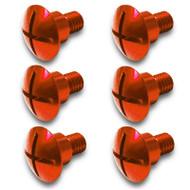 Nihilo KTM Factory Aluminum Fork Guard Bolts Orange