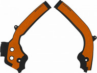 Frame Guards in Black & Orange for KTM/Husqvarna SX-TC/FC 16-18 and EXC/TE/FE 2017>
