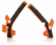 KTM SX85 Frame Guard 2013-17 - Orange & Black