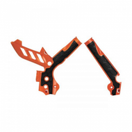 KTM SX125 Frame Guard 2011-2015 - Orange & Black