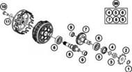 OEM KTM Countershaft Bearing 45133028000