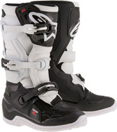 ALPINESTARS TECH 7S YOUTH BOOT BLACK/WHITE