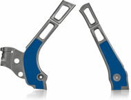 YZ 125/250 Frame Guard 2006> - Silver & Blue