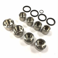 This kit comes with rear caliper seals only, you will have to purchase the front seal kit.