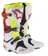 Alpinestars Tech 10 Adult Boot White Red Neon - A1001423609