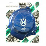 Nihilo Husqvarna TC85 Billet Ignition Cover - Blue Nihilo Face, + Husky H and Judd Racing logo