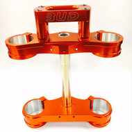 BUD Racing Triple Clamp KTM 125-525 SX/SXF, Husqvarna TC125 Available in Orange, Blue or Black