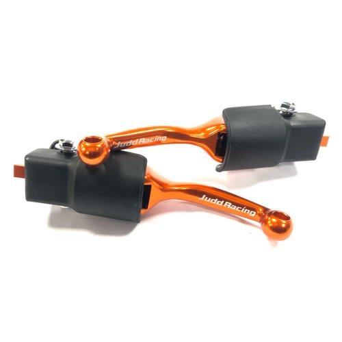 Flexible Bendy Brake & Clutch Lever Set, KTM 65 & 85 2014 - 2020 Orange