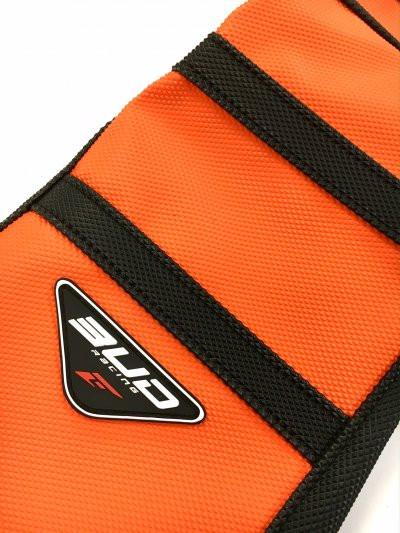 BUD RACING Seat Cover KTM 125 SX 16-18, 250, 350, 450 SXF 2016> Orange with  Black Stripes